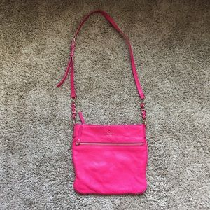 Kate Spade pink purse gold accents (old)